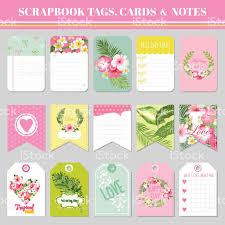 baby shower notes scrapbook tags cards and notes for birthday baby shower stock