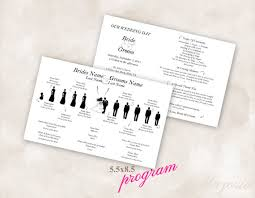sided wedding programs template sided arrows silhouette wedding program custom