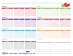3 free weekly meal planner worksheets to organize healthy homemade