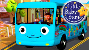 party bus clipart wheels on the bus part 4 nursery rhymes from littlebabybum