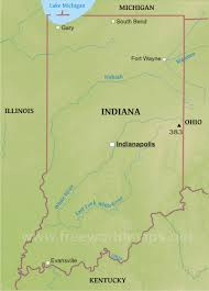 Map Of Indiana And Illinois by Physical Map Of Indiana