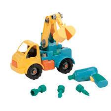 amazon com battat take a part vehicle crane old model toys u0026 games