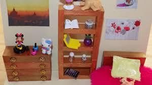 Monster High Doll House Furniture Diy Lps Girls Bedroom Youtube