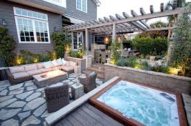 home depot tubs patio contemporary with decking flagstone