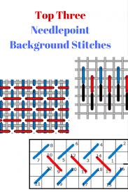 background stitch needlepoint stitch library