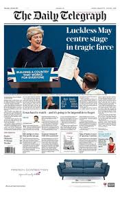 what the papers say about theresa may u0027s conference speech