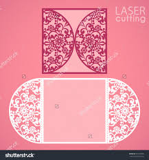 Buy Invitation Cards Laser Cut Wedding Invitation Card Template Vector Die Cut Paper