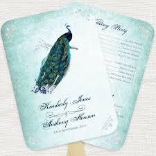 peacock wedding programs 80 best wedding programs images on wedding programs