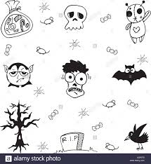 halloween zombie and ghost doodle stock vector art u0026 illustration