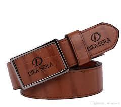 fashion big large buckle belts for men genuine leather gold