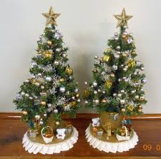mini decorated tree decoration image idea