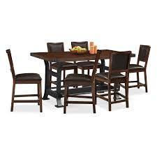 Dining Room Sets 6 Chairs by Newcastle Counter Height Dining Table Mahogany Value City