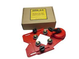 drilax drill bit hole saw guide jig fixture suction base with