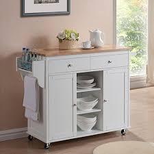 kitchen island overstock meryland white modern kitchen island cart free shipping today