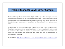 job sample cover letter ideas of sample cover letter for project manager job application