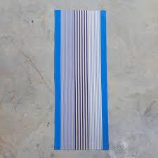 Tissu Pour Chilienne Toile à Transat Basque Peyo à Rayures Bleu Blanc Coton Au Mètre