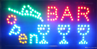 shop open sign lights 2016 selling customerized animated led bar open sign board size