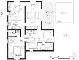 plan d une chambre plan d une maison moderne avec piscine ooreka homewreckr co