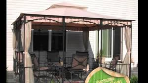 Mainstays Grill Gazebo by Garden Winds Replacement Canopy For Sunshine Pleated Valence