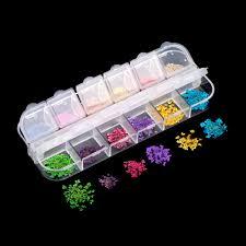 aliexpress com buy 12 colors real nail dried flower nail art