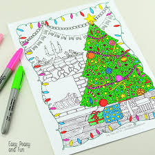 free printable christmas coloring easy peasy fun