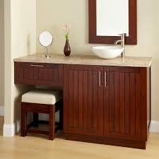 bathroom double sink vanity in antique theme made of dark brown