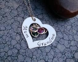 grandparent jewelry gifts grandparent jewelry etsy