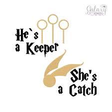 harry potter embroidery design geek embroidery he u0027s a keeper she u0027s
