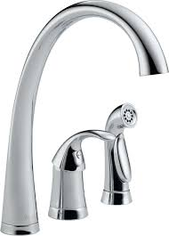100 delta classic single handle kitchen faucet white