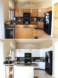 Painting Melamine Kitchen Cabinet Doors Painted Kitchen Cabinets Before And After Diy Nice To See How It