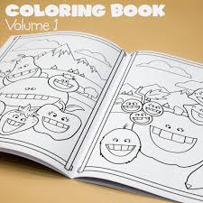 funny fruit farm coloring book marker combo pack