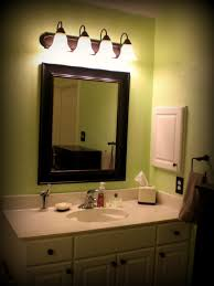 Frame Around Bathroom Mirror by Square Mirror With Silver Steel Frame On The Black Wall Of Awesome
