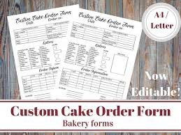 cake order custom cake order form bakery forms cake order form baking