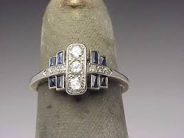 platinum diamond art deco rings collection on ebay