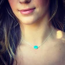 real turquoise stone necklace images Sale sterling silver real turquoise stone necklace choker etsy jpg