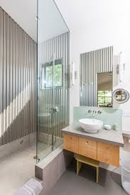 Concrete Floor Bathroom - stainless steel shower shelf bathroom contemporary with bowl sink
