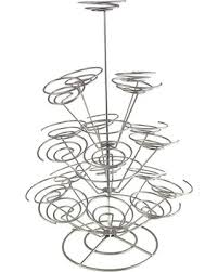 cup cake holder amazing deal on homeford fcf00yz1130c spiral metal wire cupcake