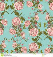 vintage wrapping paper vintage floral seamless color pattern stock vector image 45063366