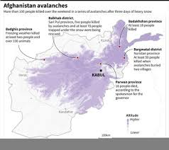 Kabul Map Afghanistan Avalanches Death Toll Hits 119 Pm Modi Condoles