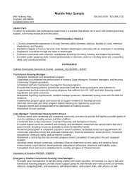 Human Services Resume Samples by Basic Case Manager Resume Template