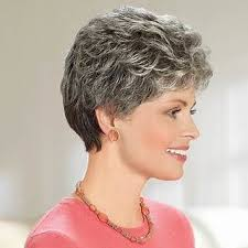 salt and pepper pixie cut human hair wigs 70 best wigs hairstyles for mature women with gray hair images