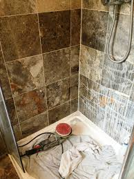ruined marble shower tiles restored in sharnbrook bedfordshire