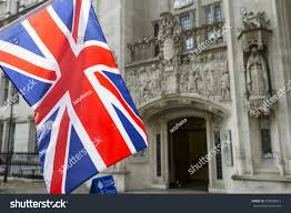 The Grand Union Flag British Union Jack Flag Flying Front Stock Photo 520638613