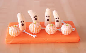 halloween treats banana ghosts u0026amp tangerine pumpkins hungry