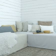 daybed idea using 2 twin beds on platforms storage would be under