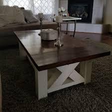 farmhouse end table plans diy chunky farmhouse coffee table diy woodworking plans handmade
