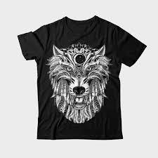 wolf ornament shirt design tshirt factory