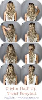 diy hairstyles in 5 minutes pin by trish lacasale on projects to try hairstyles pinterest