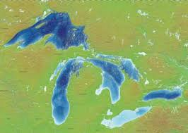 The Great Lakes Map Relief Map Of The Five Great Lakes The Dynamic Great Lakes Blog