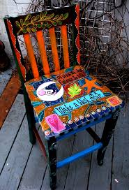 Upcycled Furniture Designs Diy by 415 Best Hand Painted Images On Pinterest Chairs Funky